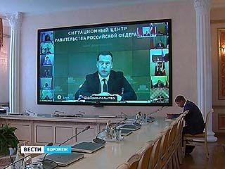 Премьер-министр Дмитрий Медведев поблагодарил всех, кто поддерживает вынужденных переселенцев из Украины
