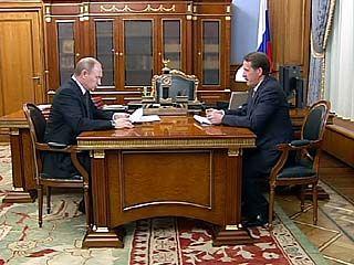 Премьер Владимир Путин выслушал отчет губернатора Алексея Гордеева