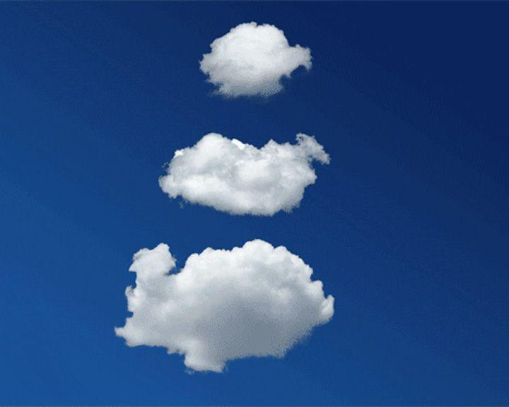 Картинка гиф анимация облака, летие коллеге