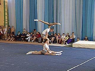 Прошел чемпионат области по акробатике