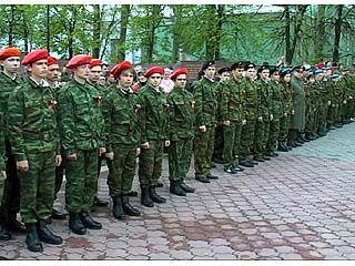 Прошло торжественное построение военно-патриотических клубов Воронежа