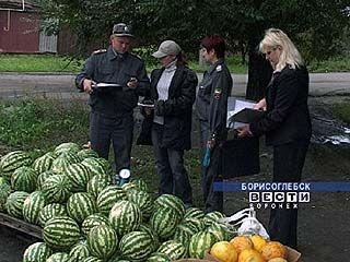 Роспотребнадзор проверил несанкционированные торговые точки Борисоглебска