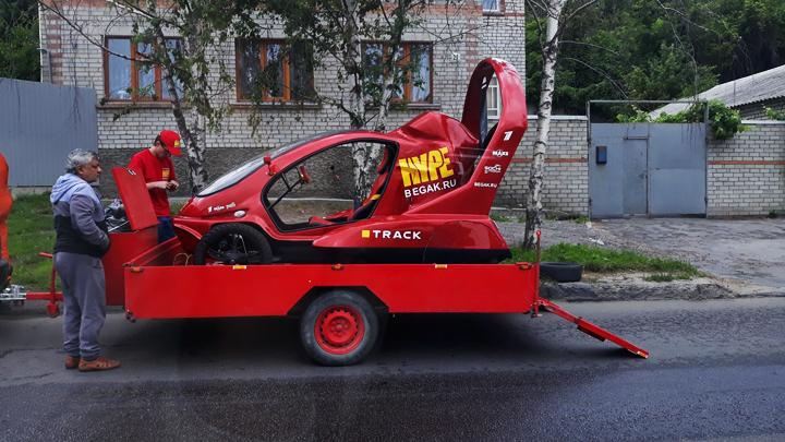 В Воронеже засветилось транспортное средство, которое может ездить, плавать и летать