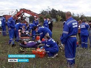 Самые масштабные учения медиков прошли на трассе у Борисоглебска