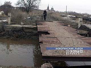 Село Пески может остаться без моста