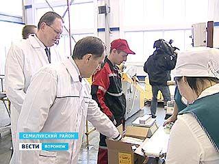 Семилукский район посетил губернатор Алексей Гордеев