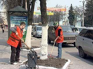 """Сотрудники """"Русского аппетита"""" вышли на уборку Воронежа"""