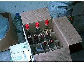 Сотрудники УБОП ликвидировали подпольный цех по производству водки