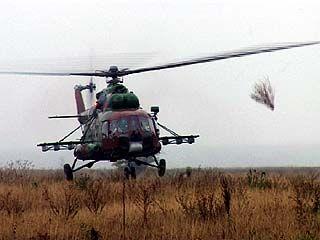 Сотрудники внутренних войск провели учения с применением авиации