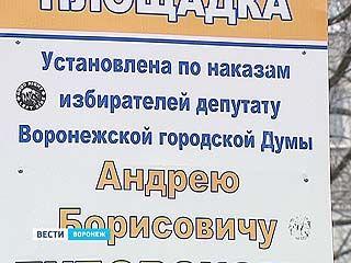 Своеобразный памятник одному воронежскому депутату появился в Воронеже
