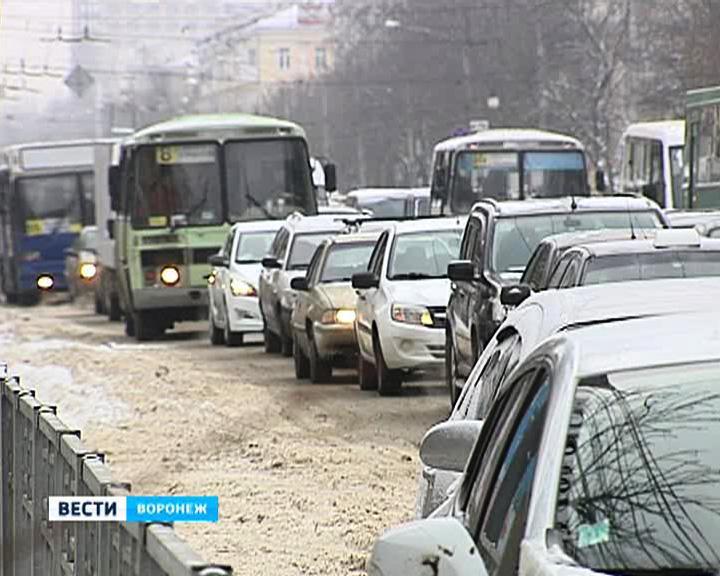 Все направления пробок в Воронеже в последний рабочий день года