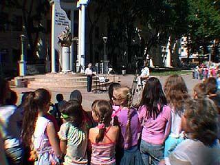 У памятника А.С. Пушкину состоялось необычное представление
