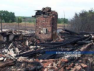 Ураган стал причиной пожара в Бобровском районе