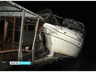 В акватории Воронежского моря столкнулись два маломерных судна