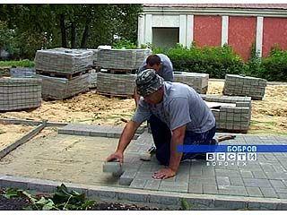 В Боброве началась реконструкция парка культуры и отдыха