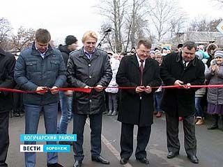 В Богучарском районе спустя 10 лет дождались открытия нового моста