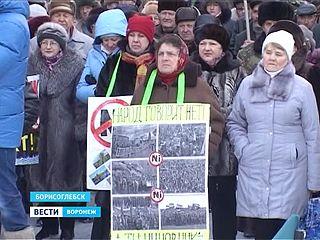 """В Борисоглебске прошёл митинг, который организовало движение """"Стоп никель"""""""