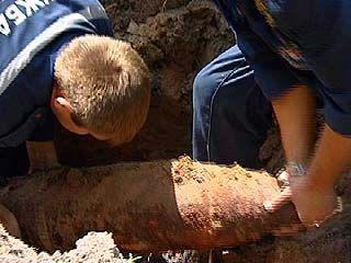 В Борисоглебске во дворе частного дома обнаружен снаряд