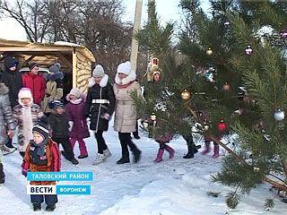В день Рождества Христова в сёлах Воронежской области устроили детские гуляния