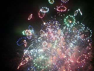 В этом году в праздничном салюте в небо взлетело более тысячи ракет