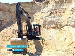 В Грибановском районе незаконно разрабатывался песчаный карьер