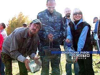 В Хохольском районе соревновались в ловле рыбы