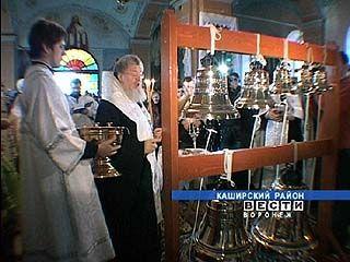 В храме святой Параскевы прошло освящение звонницы