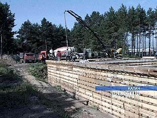 В Калаче строят очистные сооружения