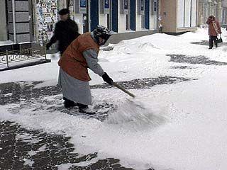 В Каменке складывается напряженная обстановка с уборкой снега