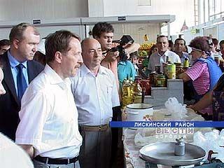В Лискинском районе устроили молочную диету для губернатора