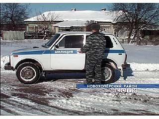 В Новохоперском районе участок одного милиционера - более 50 км