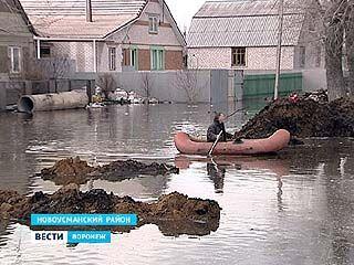В Новоусманском районе несколько улиц и домов оказались в воде