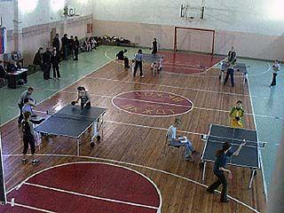 В области начал прогрессивно развиваться настольный теннис