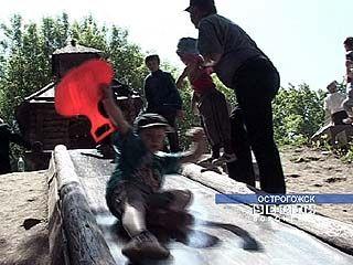 В Острогожске дети приняли участие в спортивных состязаниях