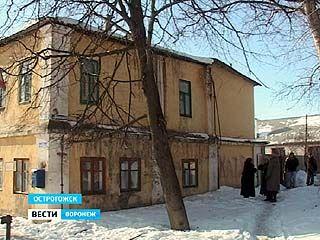 В Острогожске из-за пожара пострадал дом, который был построен ещё при царе