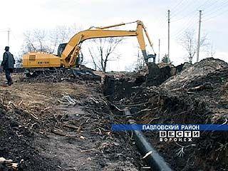В Павловске меняют водопроводные трубы