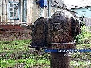 В павловском районе грядет дефицит питьевой воды