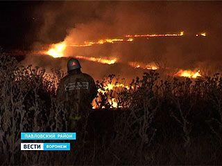 В Павловском районе произошло несколько крупных возгораний