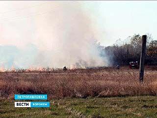 В Петропавловке несколько часов тушили крупный пожар