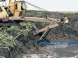 В Петропавловском районе приступили к очистке реки Криуша