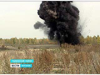 В Рамонском районе уничтожили 833 единицы боеприпасов времен ВОВ