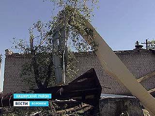 В селе Каменоверховка Каширского района из-за урагана пострадала котельная