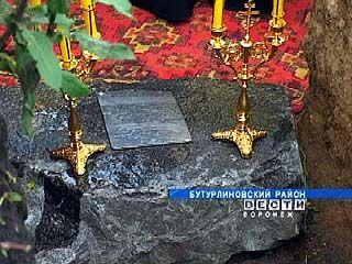 В селе Клеповка заложен памятный камень в основание нового храма
