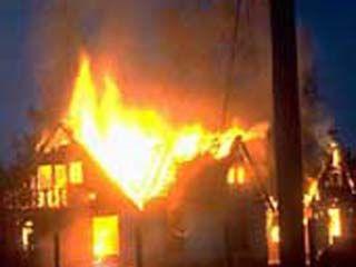 В селе Лесково сгорел дом
