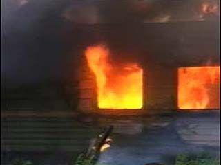 В селе Макарье деревянный дом выгорел дотла