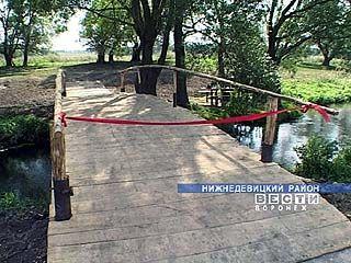 В селе Нижнее Турово появился мост