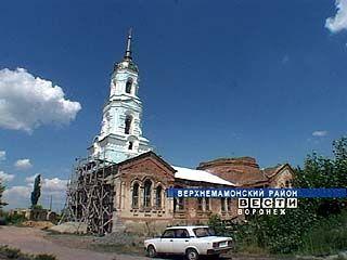В селе Нижний Мамон восстанавливают храм Архангела Михаила