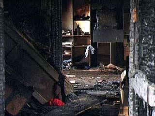 В селе Пески Поворинского района сгорел частный дом