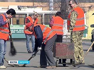 В троллейбусом ДЕПО Воронежа провели масштабный субботник