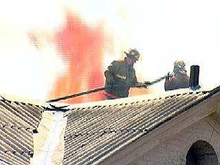 В центре Воронежа произошёл крупный пожар